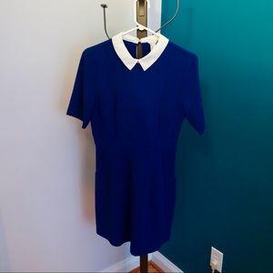 Short Sleeve Turn Down Collar Dress